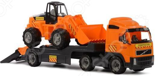 Машина игрушечная с аксессуарами Полесье Volvo «Трактор-погрузчик» погрузчик с вращением с магнитом блист brio