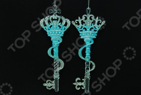 Новогоднее украшение Crystal Deco «Ключ». В ассортименте Новогоднее украшение Crystal Deco «Ключ» /Голубой