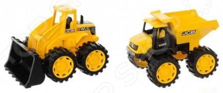 Набор машинок игрушечных HTI «Самосвал и погрузчик» машинки hti паровозик roadsterz синий с вагоном звуковыми и световыми эффектами