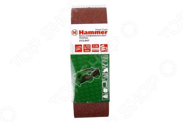 Набор лент для ленточных шлифмашин Hammer Flex 212-007 набор метчиков и плашек hammer flex 601 039 12 предметов [400856]