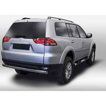 Купить Защита заднего бампера Souz-96 овальная для Mitsubishi Pajero Sport 2013