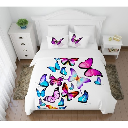 Купить Комплект постельного белья Сирень «Яркие бабочки»