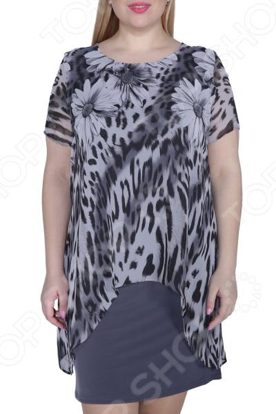 Платье ТРЕНД «Стихия женщины». Цвет: серый платье тренд стильный силуэт цвет бордовый