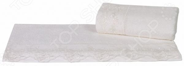 Полотенце махровое Hobby Home Collection Almeda. Цвет: кремовый полотенце hobby home collection almeda 70x140 см кремовый 1501000377
