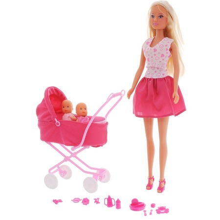Купить Кукла с аксессуарами Simba «Штеффи с коляской». В ассортименте