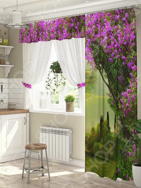 фото Комплект штор для окна с балконом ТамиТекс «Свидание», Шторы для окна с балконом