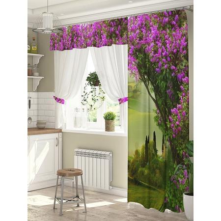 Купить Комплект штор для окна с балконом ТамиТекс «Свидание»