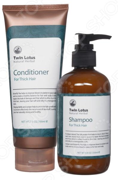 Набор: шампунь и кондиционер для жирных волос Twin Lotus Natural Herbs