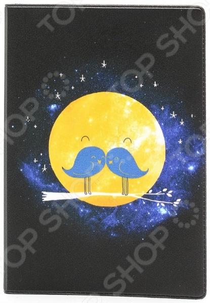 Обложка для паспорта кожаная Mitya Veselkov «Усатая луна» крылья для старк луна