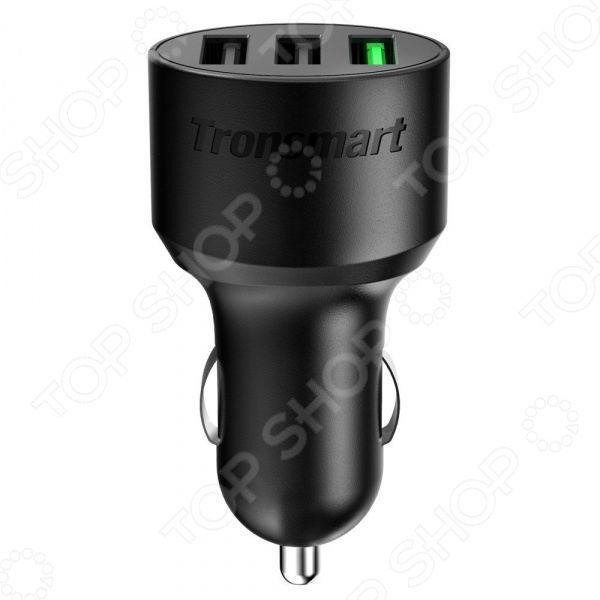 Устройство зарядное автомобильное Tronsmart с тремя портами QC 3.0 и Volt IQ зарядное с бустером купить в мурманске