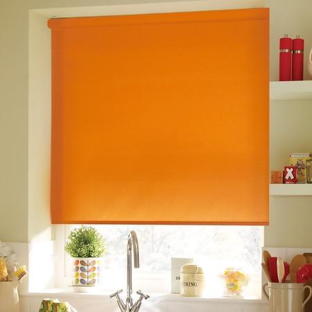Купить Рулонная штора Эскар однотонная. Цвет: апельсиновый