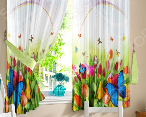 Комплект штор ТамиТекс «Бабочки»