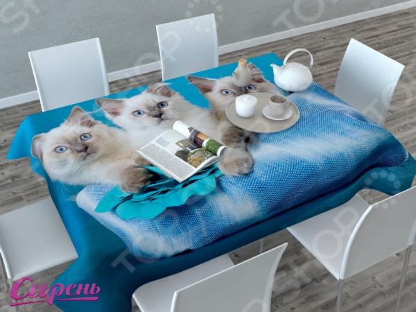 Фотоскатерть детская Сирень «Три котенка»