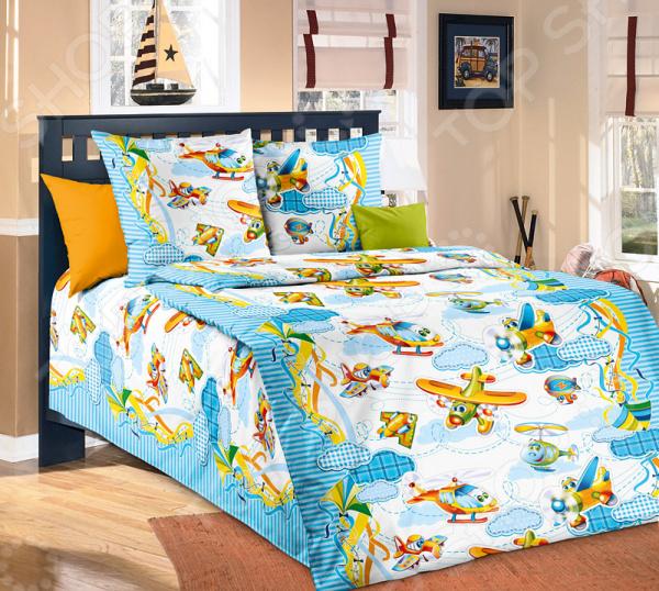 Детский комплект постельного белья Бамбино «От Винта!»
