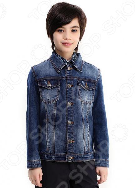 Куртка детская Finn Flare Kids KB17-85039. Цвет: деним