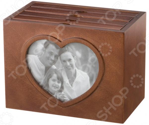 Фотобокс 255-117 рамка для фотографий в подарочной упаковке elff ceramics цвет серебряный металлический