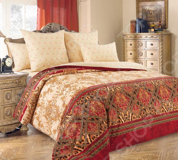 Комплект постельного белья Королевское Искушение «Императрица». Цвет: бежевый комплект постельного белья королевское искушение итальянка цвет розовый