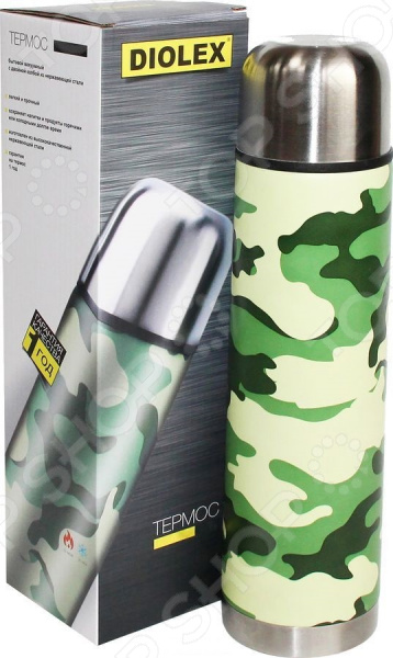 Термос Diolex DX «Милитари» термос diolex dx 1000 3 милитари 1 л