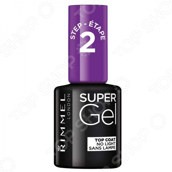 Гель-лак для ногтей Rimmel Super Gel Top Coat cnd топ super shiney top coat 9 8 мл
