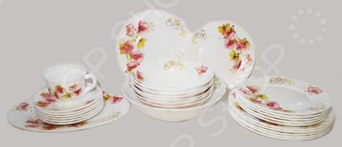 Сервиз столовый МФК «Орхидеи». Количество предметов: 32 шт