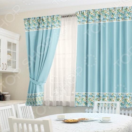Фотокомплект: шторы, тюль и скатерть ТамиТекс «Дуновение»