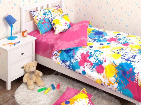 Детский комплект постельного белья Хлопковый Край Happy pink