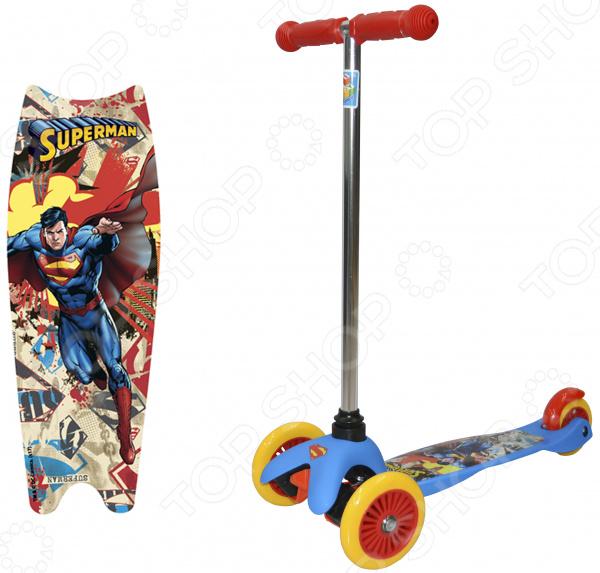 Самокат трехколесный 1 Toy «Супермэн» Т59561 самокат трехколесный 1 toy т57644 peppa