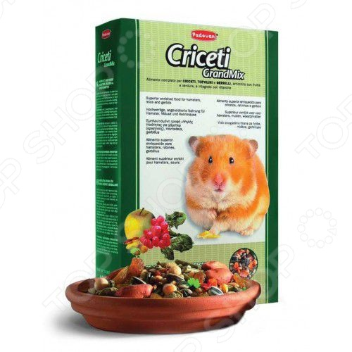 Корм для хомяков и мышей Padovan Grandmix Criceti padovan grandmix cavie