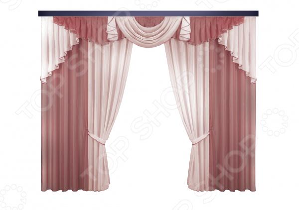 Комплект штор Zlata Korunka с атласным кантом zlata korunka б119 комплект штор шторы 140 250 4 ламбрекен 300 100 2 подхвата салатовый