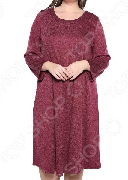 Платье Pretty Woman «Душевный уют». Цвет: бордовый