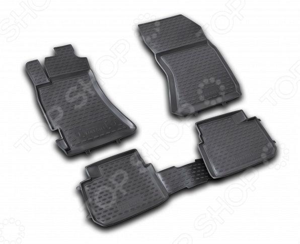 Комплект ковриков в салон автомобиля Novline-Autofamily Subaru Forester 2.5 XT 2008-2013 набор автомобильных ковриков novline autofamily для subaru forester 2 5 xt 2008 2013 в салон 4 шт
