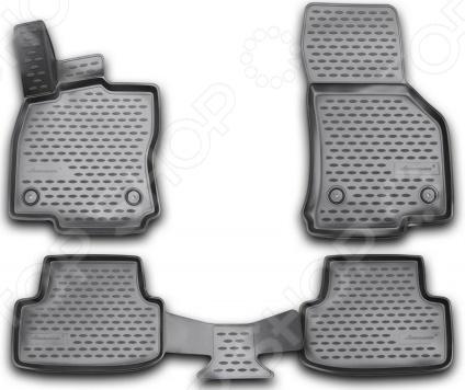 Комплект 3D ковриков в салон автомобиля Novline-Autofamily Volkswagen Golf VII 2013 комплект 3d ковриков в салон автомобиля novline autofamily volkswagen touareg 2010 2015 2015