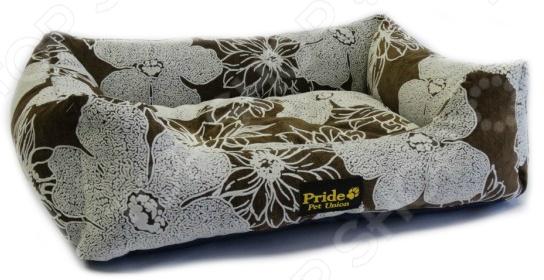 Лежак для домашних животных Pride «Флора». Цвет: коричневый