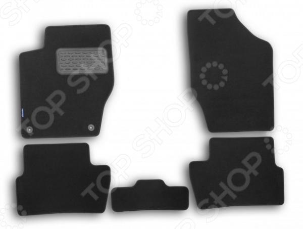 Комплект ковриков в салон автомобиля Novline-Autofamily Peugeot 308 2007-2014 хэтчбек. Цвет: черный цена