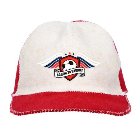 Купить Шапка-бейсболка для бани и сауны Hot Pot «Болею за наших» 41270