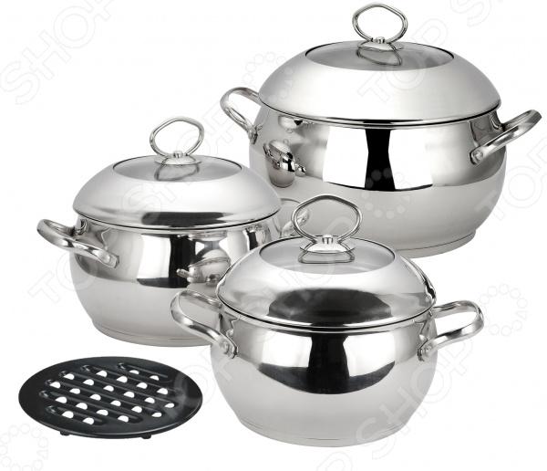Набор кастрюль Calve CL-1051 набор кухонной посуды calve с подставкой 5 предметов cl 1829