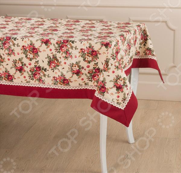 Скатерть Santalino «Розовый сад» 850-833-21 сидушка на стул santalino райский сад 850 818 5