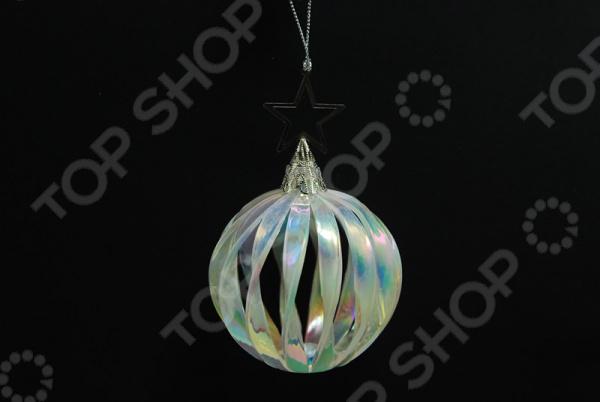 Новогоднее украшение Crystal Deco «Шар со звездой» новогоднее украшение crystal deco шар перламутровый