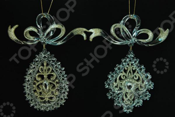 Новогоднее украшение Crystal Deco «Подвеска». В ассортименте новогоднее украшение crystal deco подвеска со стразами в ассортименте