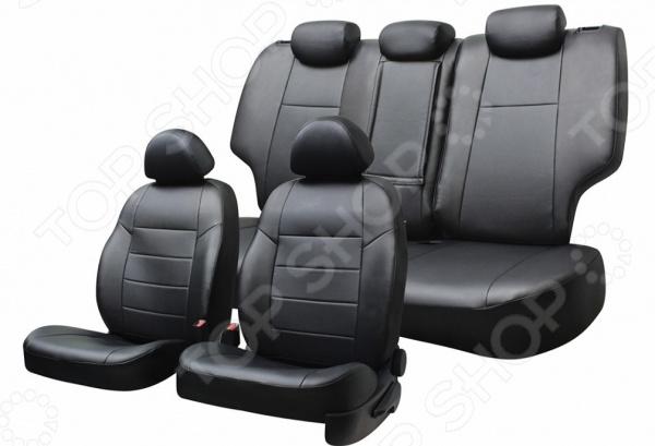 Набор чехлов для сидений Defly KIA Rio, 2011-2017, 3-е поколение (UB), седан, экокожа набор чехлов для дивана и кресел мартекс с карманами 3 предмета 05 0751 3