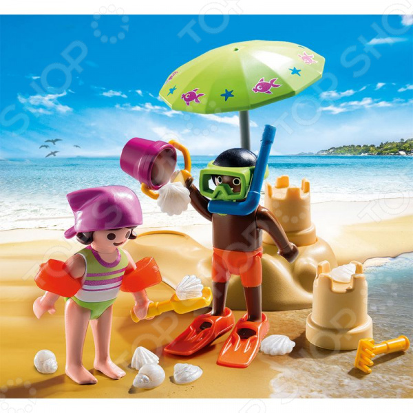 Конструктор игровой Playmobil «Экстра-набор: Дети на пляже» playmobil экстра набор ди джей 5377