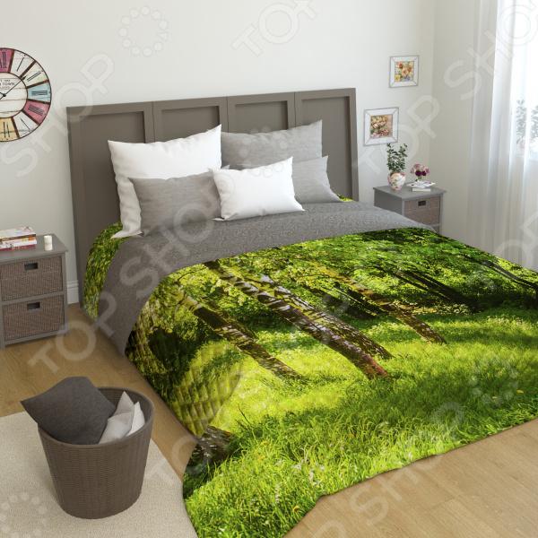 цена на Фотопокрывало стеганное Сирень «Сочные краски леса»