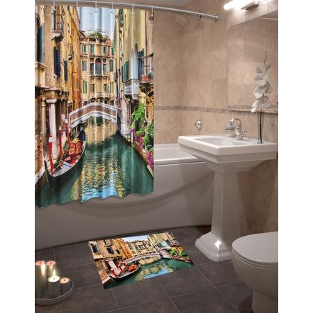 Купить Набор для ванной комнаты: шторка и коврик ТамиТекс «Венеция»