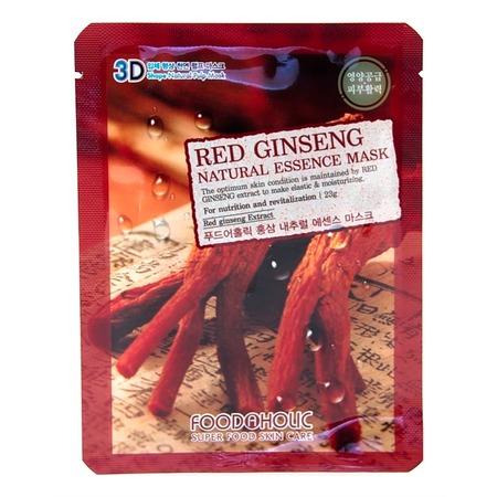 Купить Маска тканевая для лица FoodaHolic 3D с натуральным экстрактом красного женьшеня