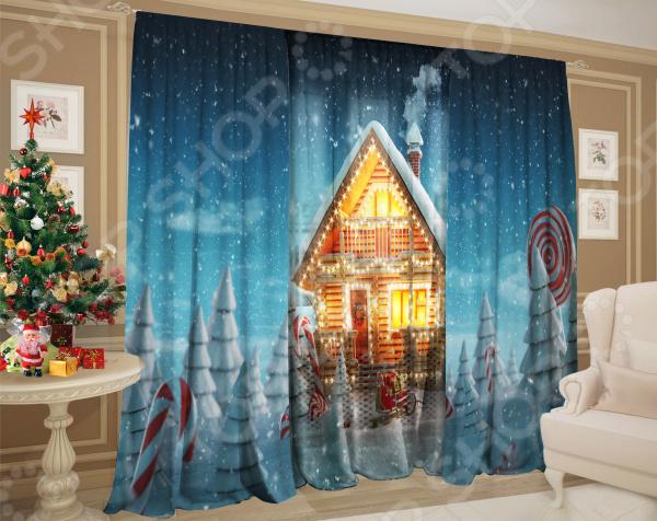 Фото - Комплект: шторы и тюль ТамиТекс «Зимняя стужа» зимняя стужа