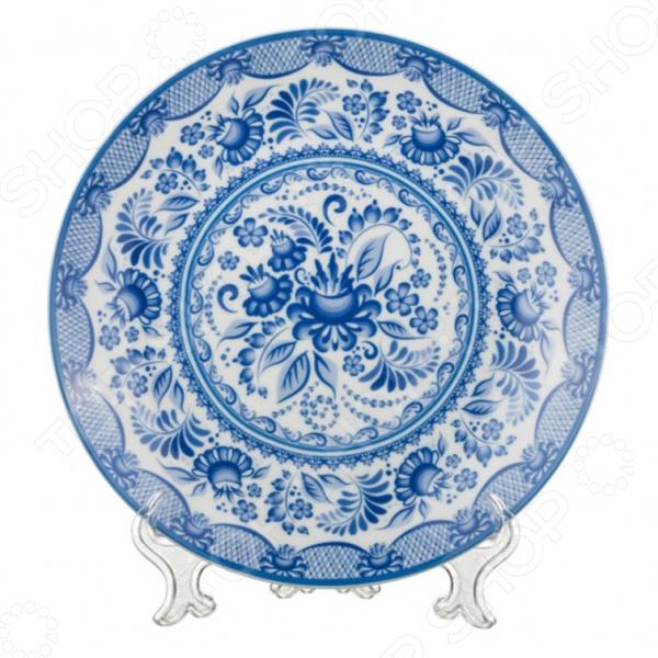 Тарелка декоративная Lefard «Гжель» 69-2486 lori декоративная тарелка из гипса под роспись русалочка принцессы дисней