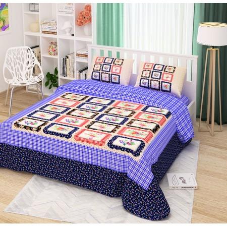 Купить Комплект постельного белья Сирень «Цветочное кантри». Евро