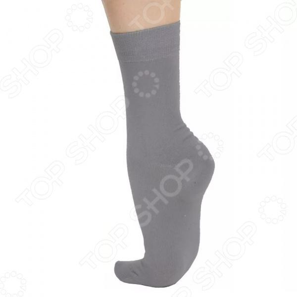 Носки из хлопка с наночастицами серебра. Цвет: серый