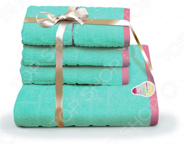 Набор полотенец «Подарочный». Количество предметов: 5 шампань penelopa бамбук 50х90 70х130 в коробке набор полотенец фиеста