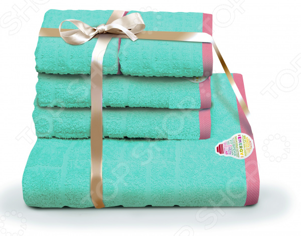 Набор полотенец «Подарочный». Количество предметов: 5 шампань kvadrro м 50х90 70х130 в коробке набор полотенец фиеста